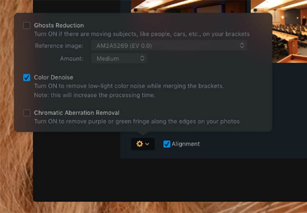 Aurora HDR Options