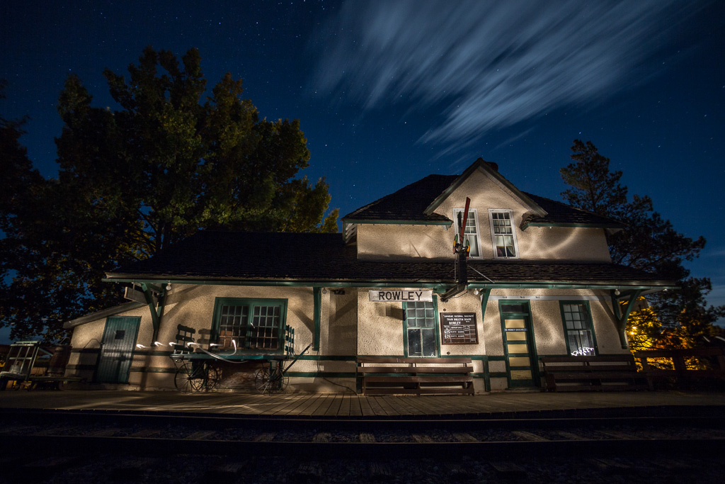 Image: In this image, I have light painted the building with a regular flashlight.