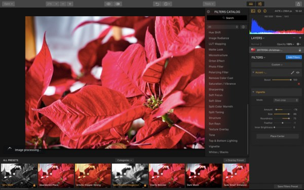 How to Quickly Process Your Holiday Photos with Luminar's Accent AI Filter