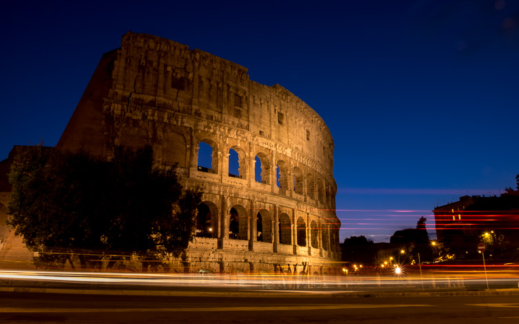 Image: Blue hour in Rome, Italy.