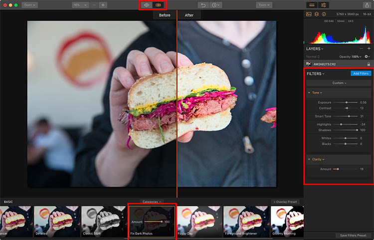 Luminar Apply Preset - How to Make Food Photos Look Tastier with Luminar