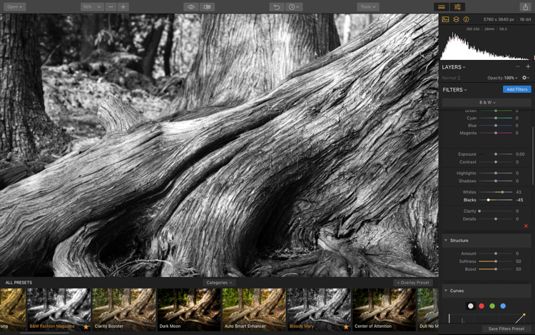 Image: After adjusting the Black and White point sliders. This sets the pure black and pure white in...