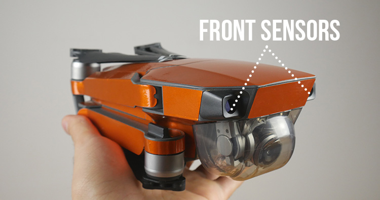 Dji mavic folded front sensors