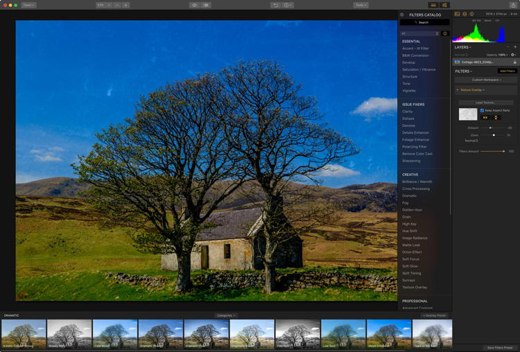 How to Apply Creativity to Your Images with Texture Overlays Using Luminar