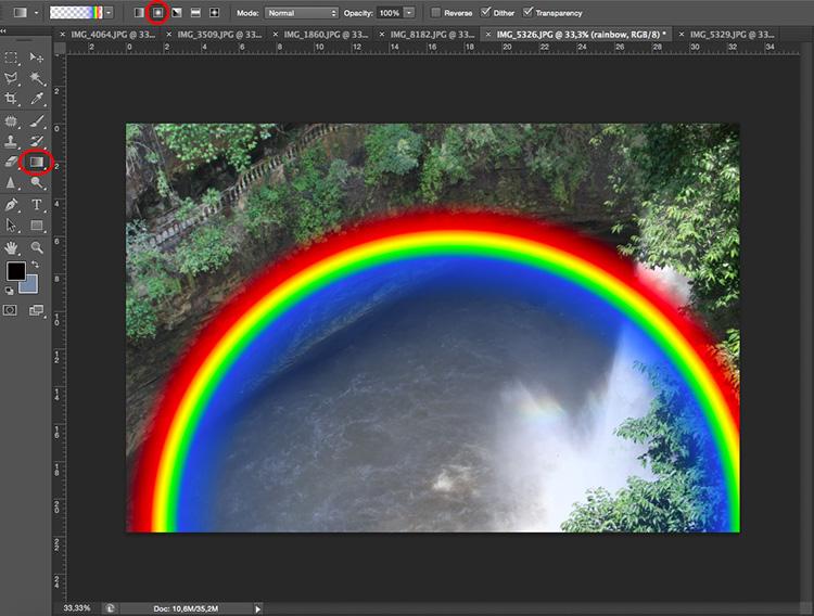 Curve rainbow photoshop