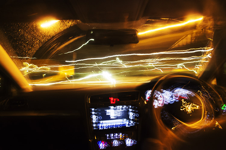 How to Photograph Light Trails from the Back Seat of a Car