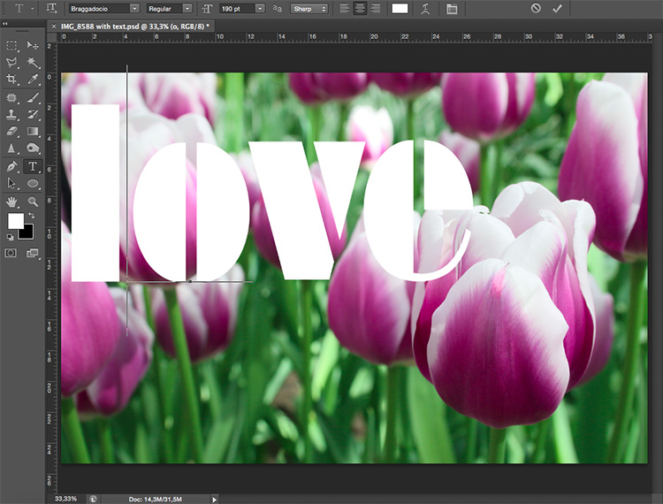 Text Love - How to Use Layers and Masks in Photoshop to Add Text to Your Photos