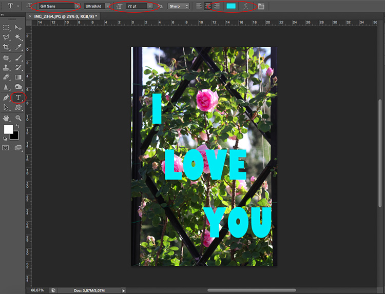 Text tool - How to Use Layers and Masks to Add Text to Your Photos