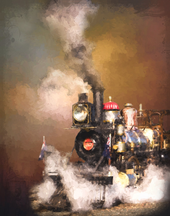 How to Turn Your Photos into Painterly Style Watercolor Art - train