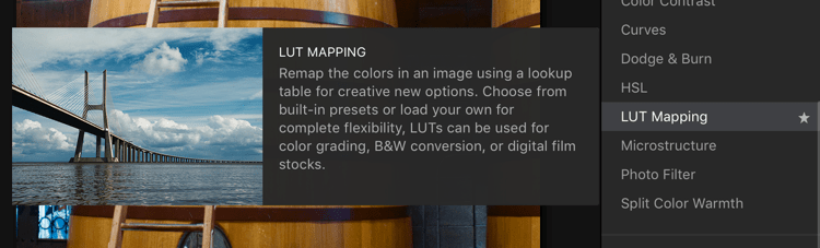 Adding LUT Mapping - Easy Color Grading With LUTs and Luminar 2018
