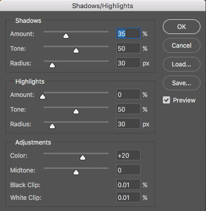 Shadows Highlights dialog - How to Understand the Science of Photography and Technical Terms for Mastering Image Tonality
