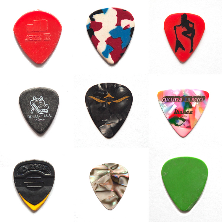Typology of guitar picks.