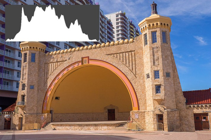 Daytona Beach Bandshell 750px - Shedding Light on the Histogram - How to Use it in Post-Production
