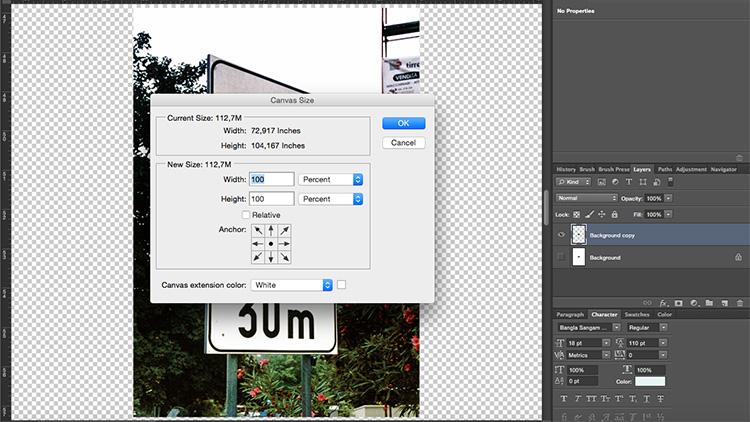 Duplicate Layer Canvas Size Blur Background Tutorial