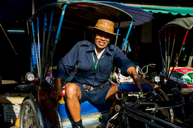 Tricycle Taxi Rider in Chiang Mai, Thailand - 5 Tips To Help You Enjoy Your First Digital Camera