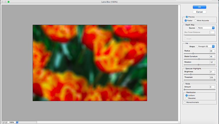 Lens Blur Filter Fake Depth of Field Tutorial