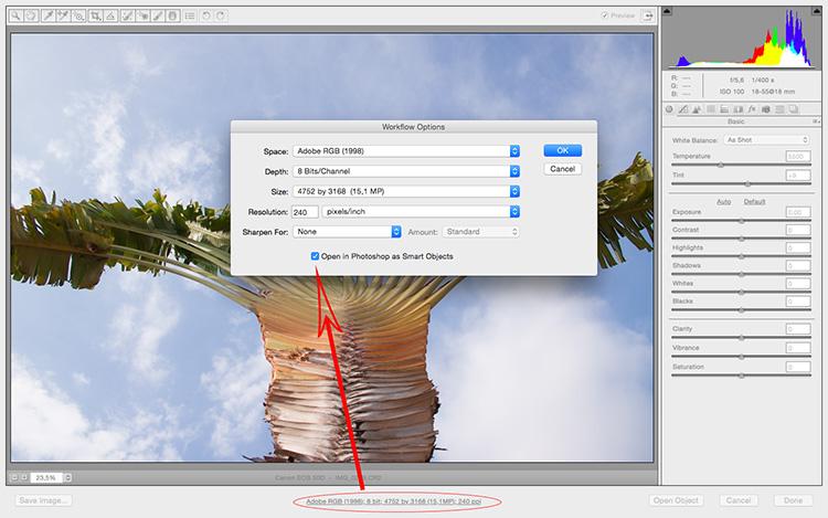 Polaroid effect tutorial open as smart object