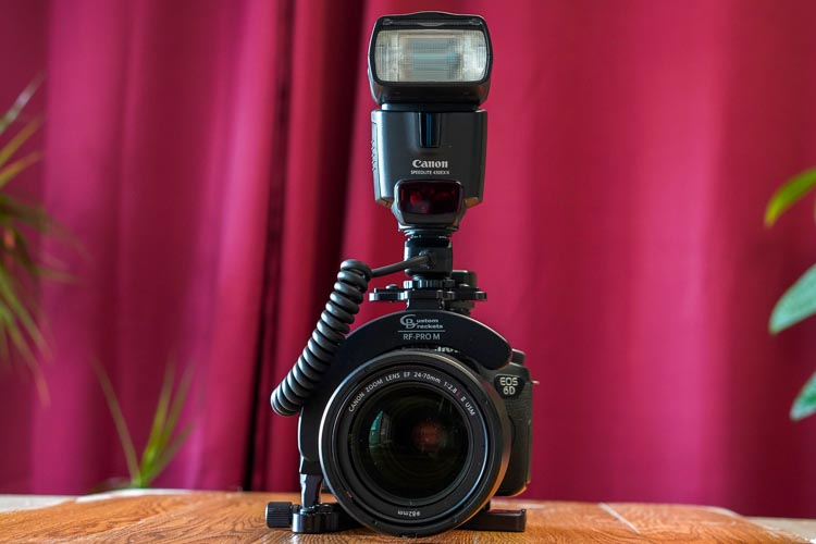 Camera flash bracket