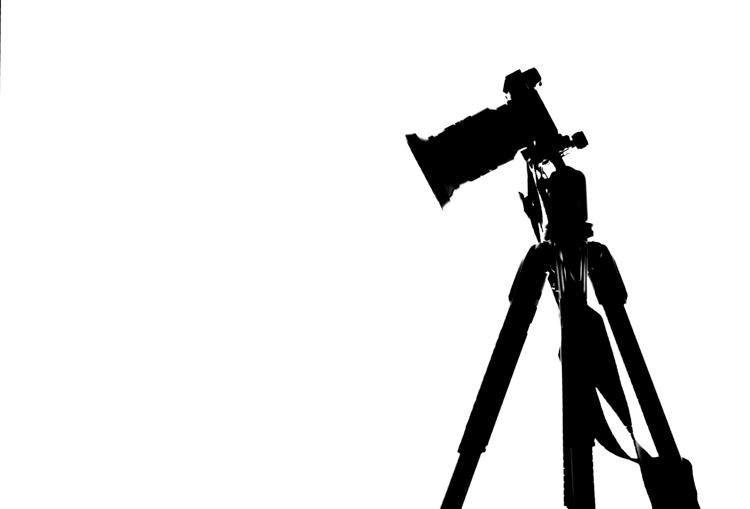 三脚架上相机的轮廓 - 摄影大师的更多教训:爱德华韦斯顿