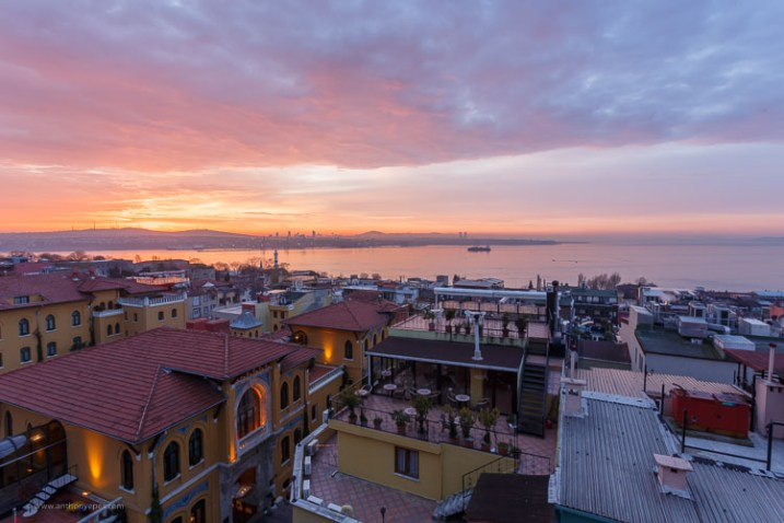sunset over a city scene - How to overcome your technical or artistic shortcomings and improve your photography