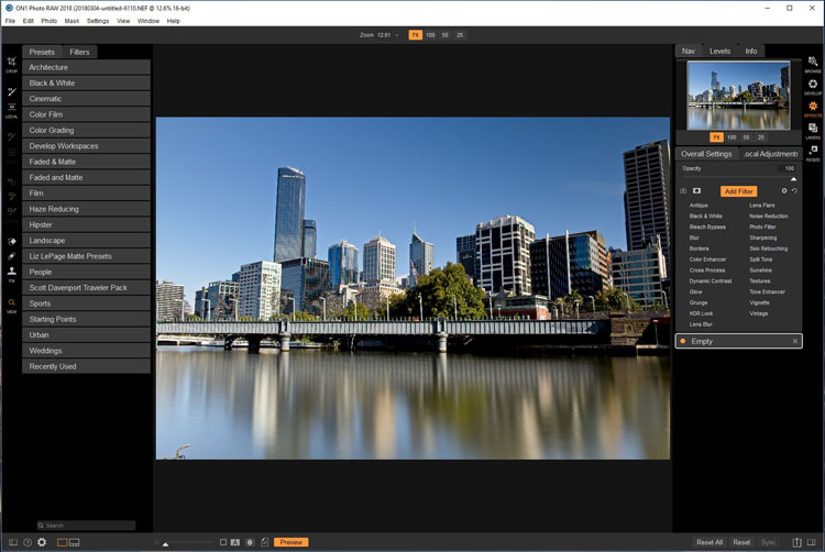 Software Review - ON1 Photo RAW 2018.1 - effects