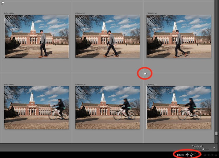 4 Tips to Organize Your Photos in Lightroom - flagging in LR