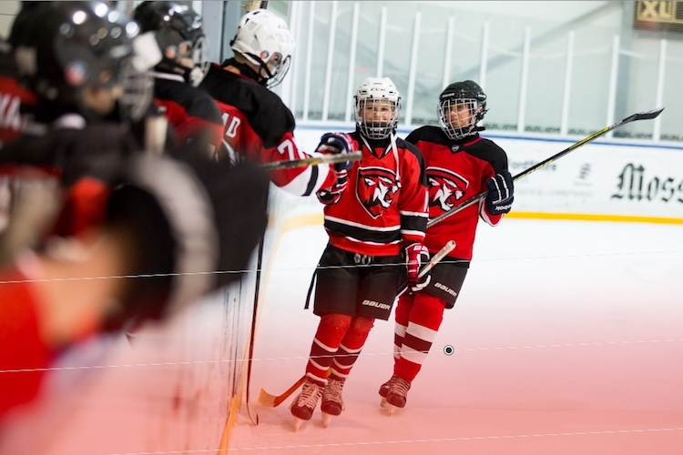 Using a graduated filter to fix the color cast on a hockey picture - Tips for Editing Hockey Photos in Lightroom