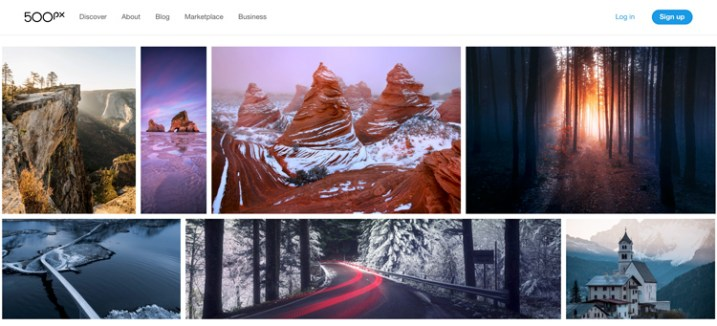 500px free vs paid photography portfolio websites