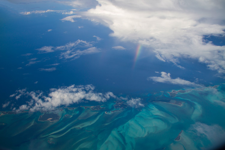 photo from an airplane window -  travel photography hacks