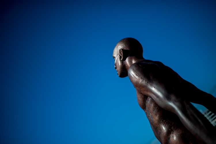 statue against the blue sky - better background