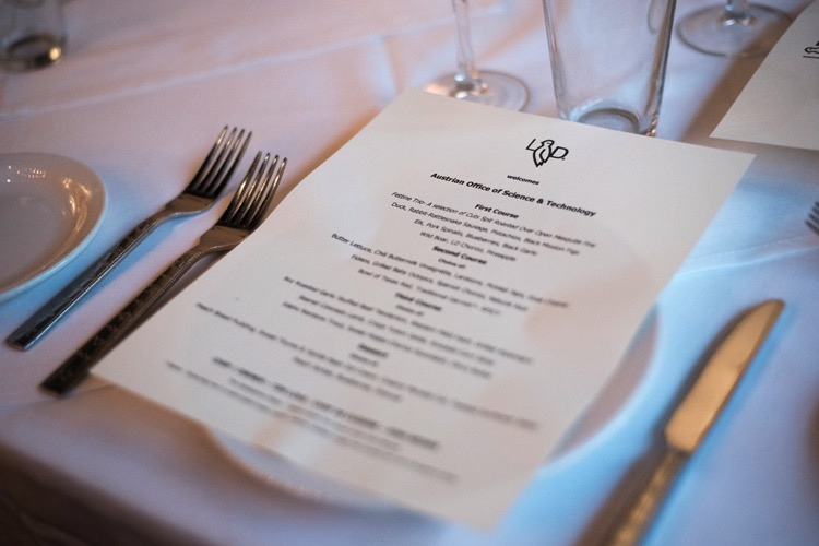 menu on a plate - Event Photography Etiquette: Avoid Embarrassment With These 10 Dos and Don'ts