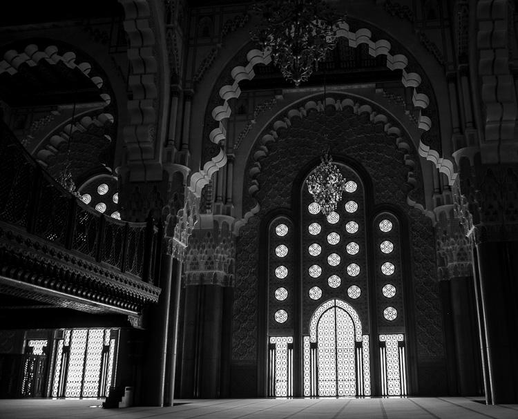 Image: Hassan II Mosque in Casablanca, Morocco.
