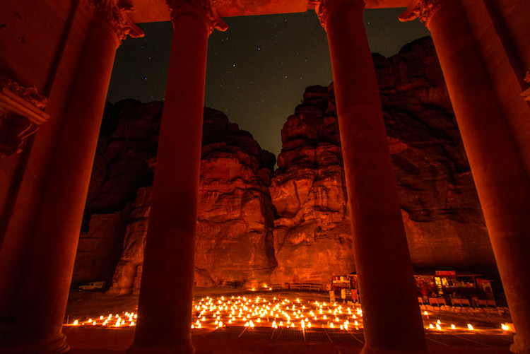 Jordan ruins at night in candlelight - 4 Reasons Why Putting Your Camera Down Can Help You Take Better Photos
