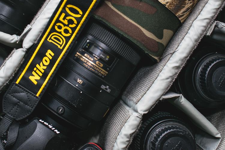 Internal dividers help organization - camera bag