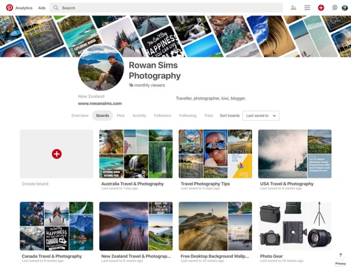 pinterest free vs paid photography portfolio websites