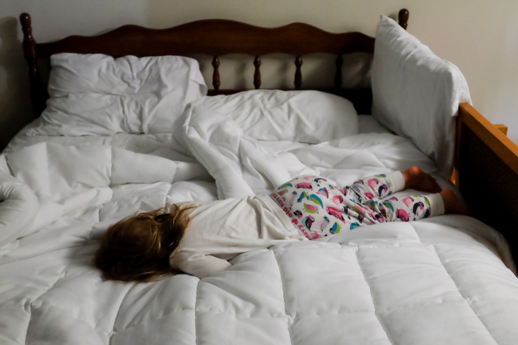 A sleeping girl. How to Photograph Your Family Vacation