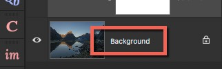 Background layer - How to Create Your Own Style by Using LUTs in Photoshop