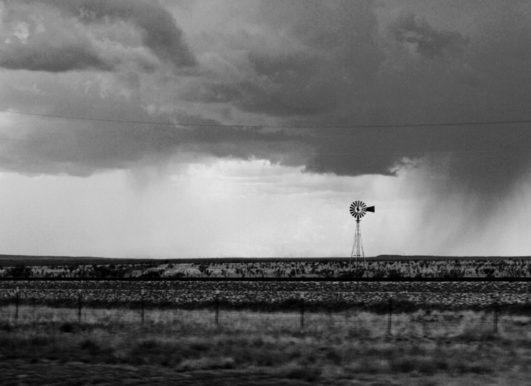 View of a storm on the plains from inside the car. How to Photograph Your Family Vacation