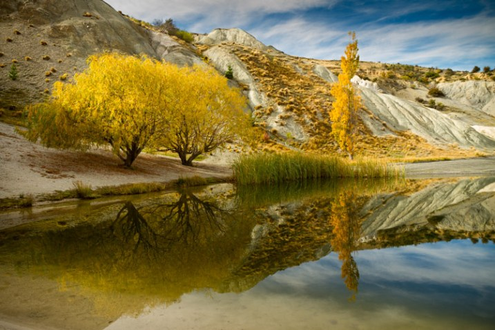 fall scene and reflection - 9 Ways to Create Balance in Your Photography