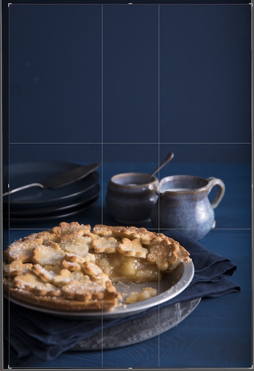 How to Edit Food Photography Images Using Lightroom - crop your image first