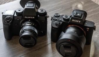 Sony a7riii versus fujifilm x-h1 cameras