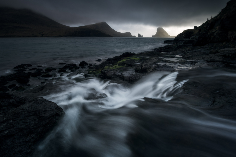 dark image with moving water - Working with Different Shutter Speeds for Landscape Photography