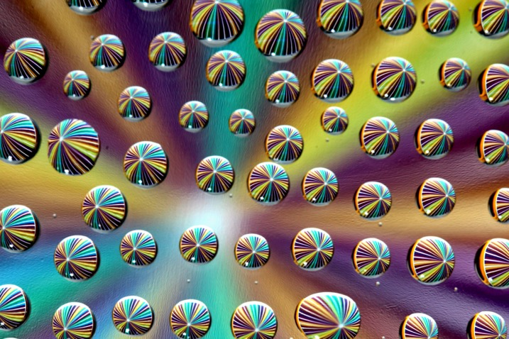 How to Make and Photograph Rainbow Water Droplets on a CD - color water drops