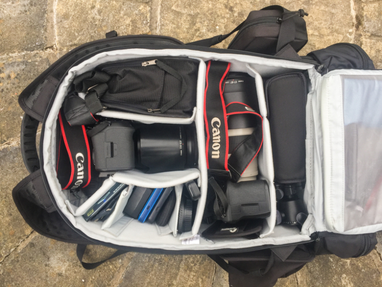 7 Reasons Why a Tripod is Must for Outdoor Photographers - full camera bag