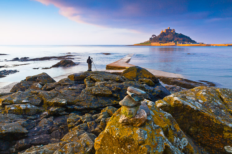 seascape and castle on a hill - 5 Framing Tricks to Help You Capture Better Landscape Photos