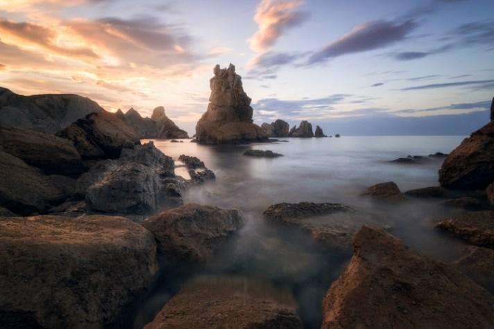 海景场景 - 使用不同的快门速度进行风景摄影
