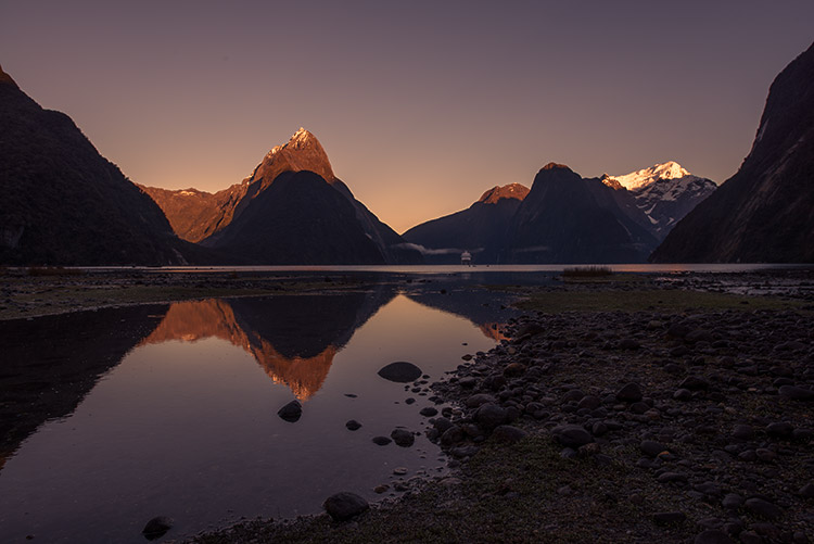 mountains at dusk and reflections - How to Create Your Own Style by Using LUTs in Photoshop