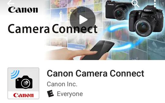 Canon Camera Connect Application