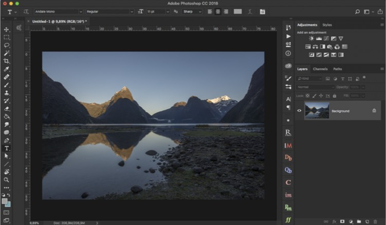 Open a file in Photoshop - How to Create Your Own Style by Using LUTs in Photoshop