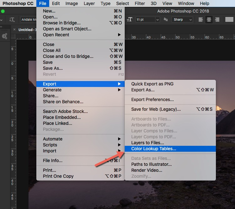 How to save the LUT - How to Create Your Own Style by Using LUTs in Photoshop